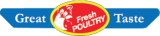 "Great Taste Fresh Poultry  Yellow, Red & Blue 4"" x 7/8"" 1000 per roll"